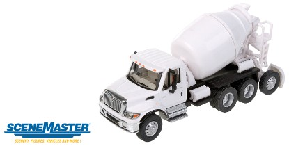 Picture of International 7600 3-Axle Cement Mixer- White