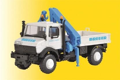 Picture of Unimog Truck w/Crane - Breuer (white, blue, German Lettering)