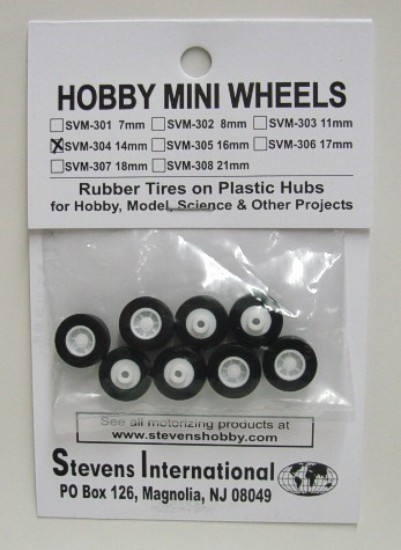 Picture of Rubber Tires on Plastic Hubs (8) (14mm)