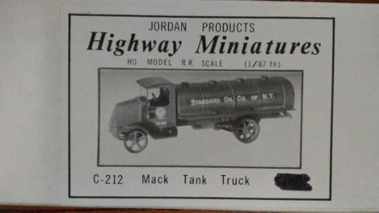 Picture of Mack tank truck 1923