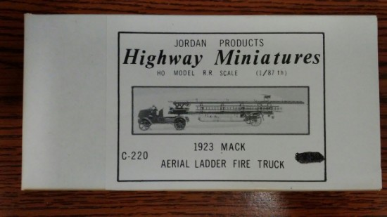 Picture of Mack fire ladder truck 1923
