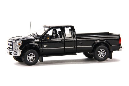 Picture of Ford F250 pickup w/Super cab 8' bed  black/chrome