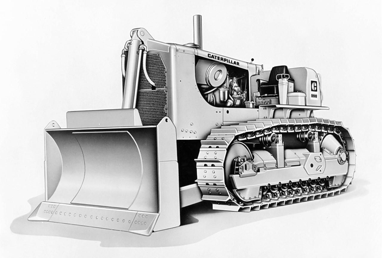 Picture of Cat® D9G Push Dozer with 9C Cushion Blade