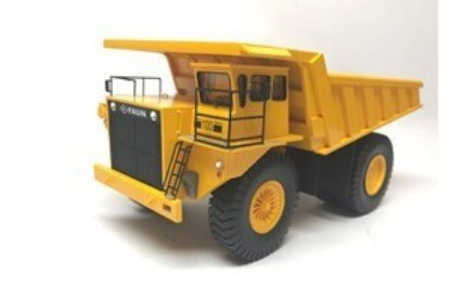 Picture of O&K Faun K100 mine dump yellow