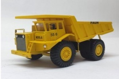 Picture of Faun K55 mine dump yellow