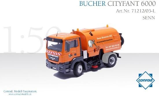 Picture of MAN TGS Bucher Schorling Cityfant 6000 road sweeper SENN