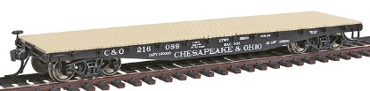 Picture of 42' Fishbelly Side Sill Flatcar - Ready to Run -- Chesapeake & Ohio (black)