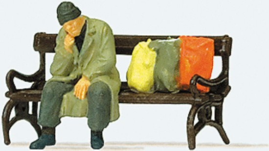 Picture of Homeless Man on Bench