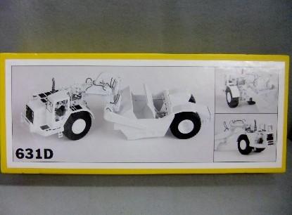 Picture of 631D scraper  cab  white,  inboard lights