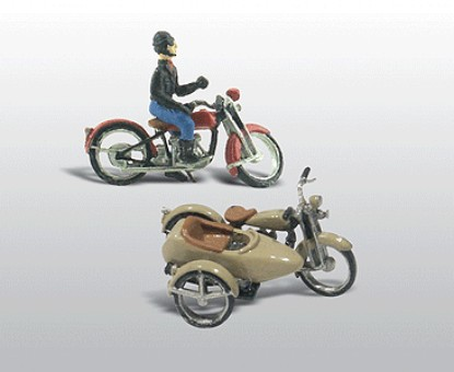 Picture of Motorcycles w/Side Cars (Cast Metal Kit)