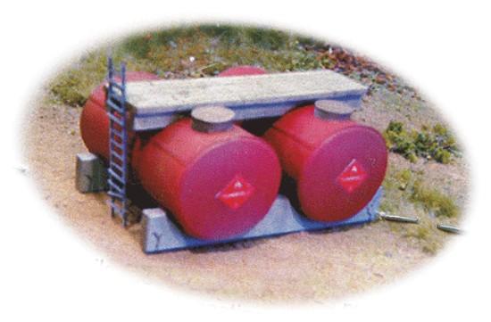 Picture of Horizontal Fuel Tank -- Kit pkg(2) - unpainted