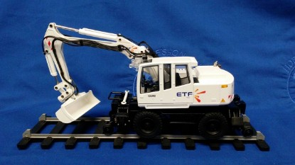 Picture of Atlas 1604 road rail excavator  ETF  white