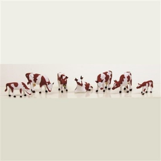 Picture of COWS & CALVES (BROWN & WHITE) (7 pcs)