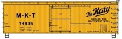 Picture of 36' Double-Sheathed Wood Boxcar, Steel Roof