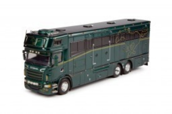 Picture of T.B.P. Scania R6 Topsleeper horse transporter - green