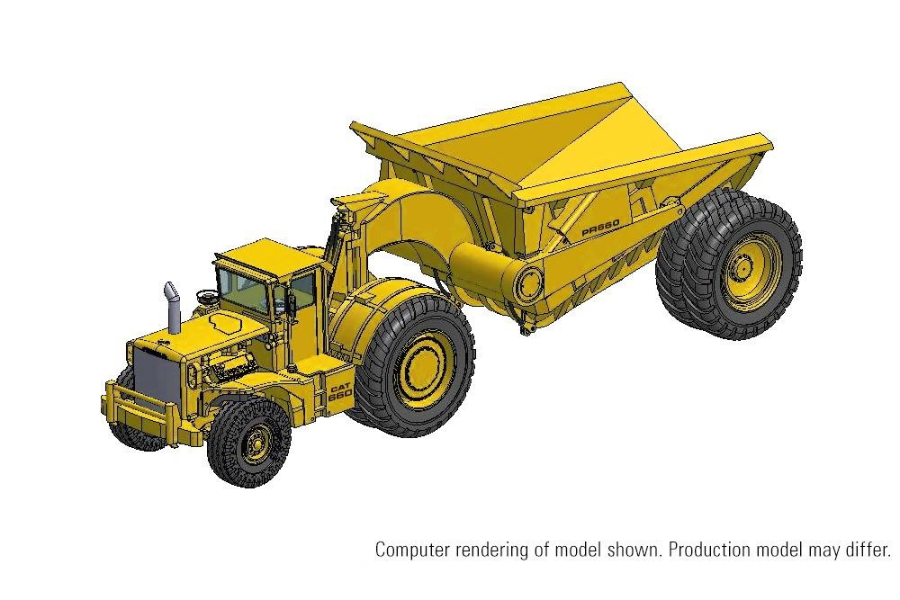 Picture of Cat PR660 articulated dump truck