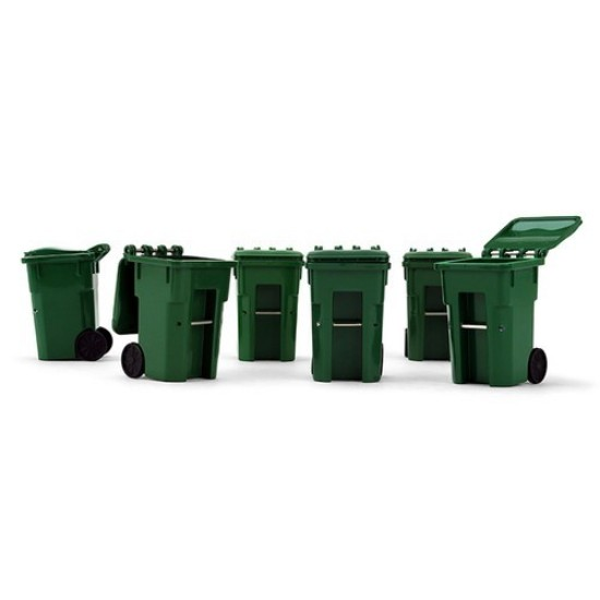 Picture of Set of Six Trash Carts  green
