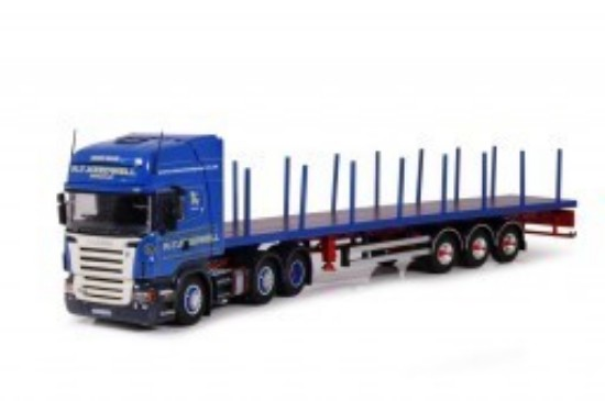 Picture of Scania R-serie Topline 6 x 2 with flatbed trailer KEEDWELL