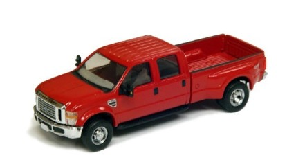 Picture of Ford F-350 XLT DRW crew cab pickup red/black trim