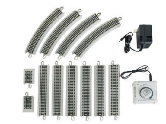 Picture of Point-to-Point Auto-Reversing Nickel Silver E-Z Track Set