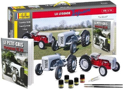 Picture of Ferguson TS20 & FF30 Farm Tractors w/Paint, Glue & Ferguson History Book-French (60th Anniversary Ltd Re-Edition)