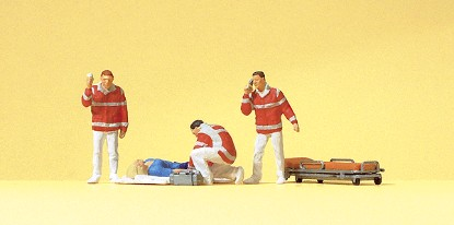 Picture of Paramedics pkg(4) - With Injured Person on Blanket