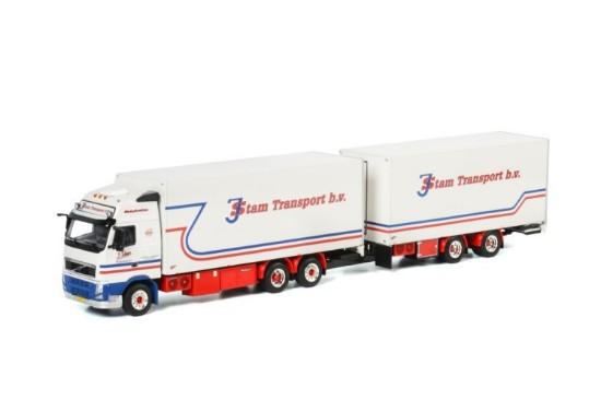 Picture of Volvo FH3 Globetrotter XL 6x4 box truck+CC trailer J.STAM