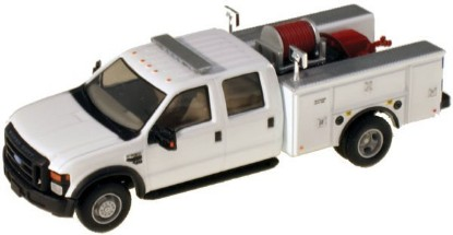 Picture of Ford F-550 XLT Dual Rear Wheel Crew-Cab Brush Fire Truck - White