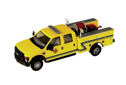 Picture of Ford F-550 XLT Dual Rear Wheel Crew-Cab Brush Fire Truck- Yellow, Blue Z Stripe