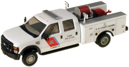 Picture of Ford F-550 XLT Dual Rear Wheel Crew-Cab Brush Fire Truck- USCG Boston (white)