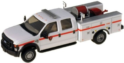 Picture of Ford F-550 XLT Dual Rear Wheel Crew-Cab Brush Fire Truck-- Park Service (white, red stripe)