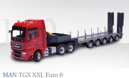 Picture of MAN TGX XXL Euro 6 Tractor w/5-Axle Doll Low Loader