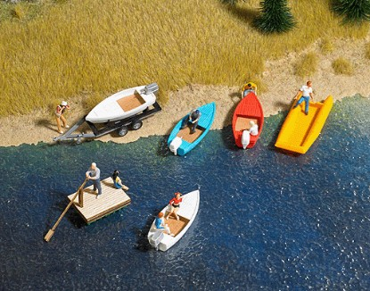 Picture of Boat/Raft Set w/Trailer - Kit