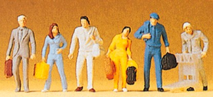 Picture of People  Walking with Suitcases-6