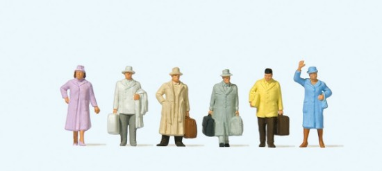 Picture of 6 Travelers  5 with long coats