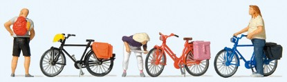 Picture of 3 Bicycles & 3  people