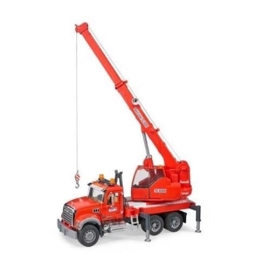 Picture of Mack Granite Liebherr crane truck - red