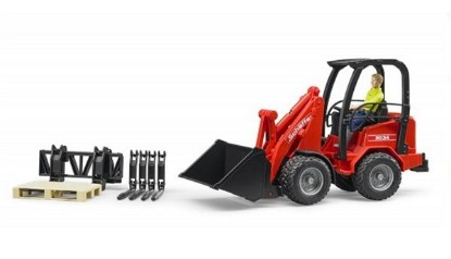 Picture of Schaeffer 2034 mini wheel loader + figure + accessories