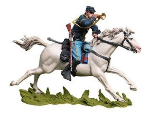 Picture of Civil War -Custer Charge at Gettysburg, Union Bugler Painted