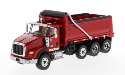 Picture of International HX620 tridem dump - red