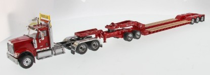 Picture of International HX520 tandem tractor+XL lowboy++jeep - red