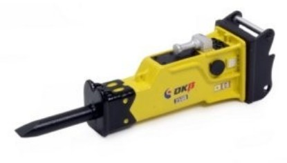 Picture of OKB 2500 Hydraulic Hammer (25-30 ton)  with quick coupler saddle