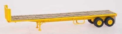 Picture of Trailmobile 40' Flat Bed Trailer - Assembled -Yellow