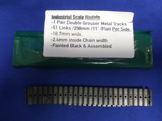 Picture of Metal track set (1 pair) double grouser 18.7mm wide