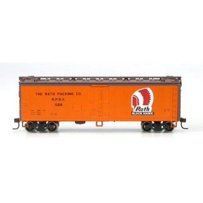 Picture of 40' Wood Reefer, Rath Packing Co.  #552
