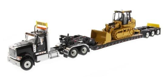 Picture of International HX520 tandem tractor+XL lowboy+Cat 963K - black
