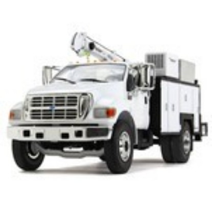 Picture of Ford F-650 maintainer service body -  white
