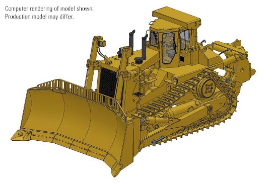 """Picture of Cat® D11N Dozer U-Blade & Single-Shank Ripper """"Block C"""""""