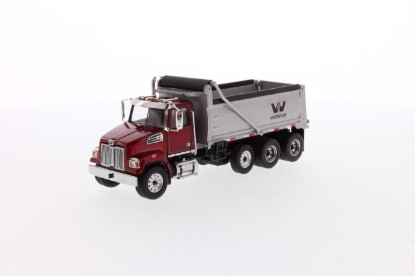 Picture of Western Star 4700 triaxle dump - red/silver