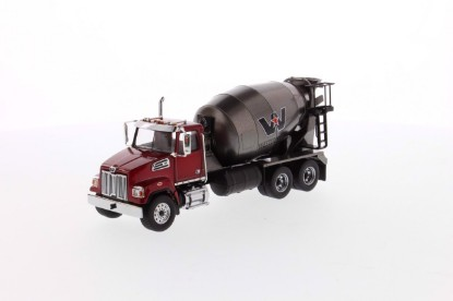 Picture of Western Star 4700 concrete mixer - red/gray